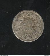 1/2 Franc Suisse / Switzerland 1898 TB - Suisse