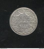 1/2 Franc Suisse / Switzerland 1910 TTB - Suisse