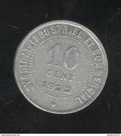 10 Centimes Ville De Blois 1922 Chambre De Commerce - Monnaie De Nécessité - France