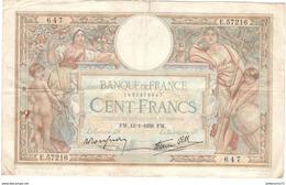 Billet 100 Francs France Merson 13-1-1938 - 1871-1952 Anciens Francs Circulés Au XXème