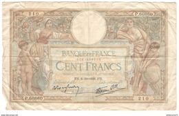 Billet 100 Francs France Merson 6-10-1938 - 1871-1952 Anciens Francs Circulés Au XXème