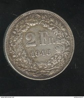 2 Francs Suisse / Switzerland 1945 TTB - Switzerland