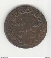 5 Centimes An 8 AA - TTB - France
