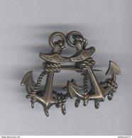 Badge Métal Ancien 2 Ancres De Marine - Militaria