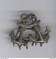 Badge Métal Ancien 2 Ancres De Marine - Unclassified