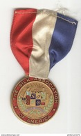 Médaille The Silk Association Of America - Dos Lisse - Très Bon état - Militares