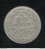 1 Mark Allemagne / Germany 1907 J - [ 2] 1871-1918: Deutsches Kaiserreich