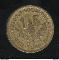 1 Franc Togo Territoire Sous Mandat 1925 TTB+ - Togo