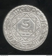 5 Francs Maroc 1929 Sup - Maroc