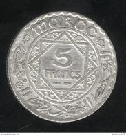 5 Francs Maroc 1929 Sup - Morocco