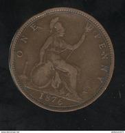1 Penny Angleterre 1876 Victoria TTB+ - 1816-1901 : Frappes XIX° S.