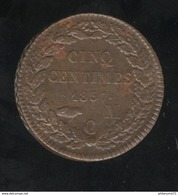 5 Centimes Monaco 1837 MC Honoré V - TTB+ - Monaco