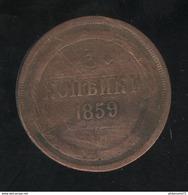 3 Kopecks Russie 1859 TB+ - Russland