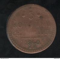 3 Kopecks Russie 1840 TB+ - Russie