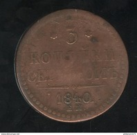 3 Kopecks Russie 1840 TB+ - Russia