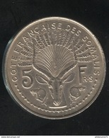 Essai 5 Francs Côte Française Des Somalis 1948  - SUP - Djibouti