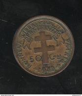 50 Centimes AEF Libre 1943 - Colonie Française - TTB+ - Colonies