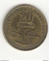 20 Francs Côte Française Des Somalis 1952 - SUP - Djibouti