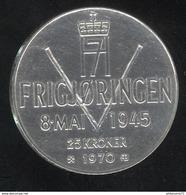 25 Kroner Norvège - 1945-1970 25ème Anniversaire De La Libération - Norway