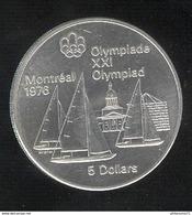 5 Dollars Canada 1973 - Voiliers - Olympiades De Montréal 1976 - Canada