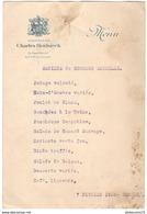 Menu Société De Secours Mutuel 7 Février 1926 - Publicitaire Champagne Heidsieck - Menus