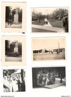 Lot 6 Photos Originales De Soldats Allemands à Paris , Neuilly , Compiègne - 1940 Et 1941 - Guerre, Militaire