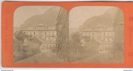 Photo Stéréoscopique Opaque 17,5 X 9 Cm - Suisse - Interlaken - La Gare - Photos Stéréoscopiques