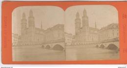 Photo Stéréoscopique Opaque 17,5 X 9 Cm - Suisse - Zurich - La Cathédrale - Photos Stéréoscopiques