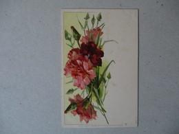 OEUILLETS RAPHAEL TUCK & FILS UN MOT A LA POSTE SERIE 51 - Blumen