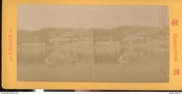Photo Stéréoscopique Opaque 17,5 X 9 Cm - Menton - La Baie De Garavan - Photos Stéréoscopiques