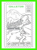 TIMBRES REPRÉSENTATIONS - CHILDRENS COLORING POST CARDS - LONGEST HIKING TRAIL PACIFIC CREST TRAIL - - Timbres (représentations)