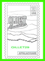 TIMBRES REPRÉSENTATIONS - CHILDRENS COLORING POST CARDS - OLDEST MOUNTAINS, APPALACHIANS EAST COAST - - Timbres (représentations)
