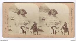 Photo Stéréoscopique Opaque 17,5 X 9 Cm - Egypte - Le Sphynx - Photos Stéréoscopiques