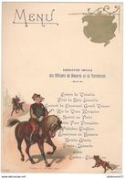 Menu Amicale Des Officiers De Réserve Et De Territoriales - Grand Hotel Chalon Sur Saône - 26 Mars 1905 - Menus