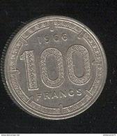 100 Francs Banque Centrale Des Etats De L'Afrique Equatoriale 1966 - TTB+ - Monnaies