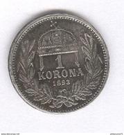 1 Korona Hongrie / Hungary 1893 - SUP - Hungary