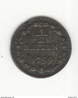 1/2 Batzen République Hélvetique 1799 TTB+ - Suisse
