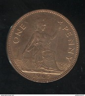 1 Penny Angleterre 1967 Elisabeth II SUP - 1902-1971 : Monnaies Post-Victoriennes
