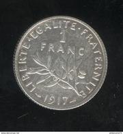 1 Franc France 1917 - SUP - France