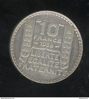 10 Francs Turin 1938 TTB+ - K. 10 Francs