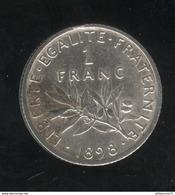 1 Franc France 1898 - TTB+ - H. 1 Franc