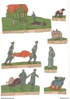 Lot De Découpis Soldats Français WW1 - Infirmiers - Oblaten, Glanzbilder