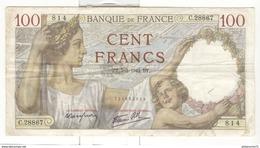 Billet 100 Francs France Sully 05-03-1942 - 1871-1952 Anciens Francs Circulés Au XXème