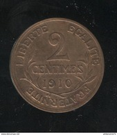 2 Centimes France 1910 - TTB+ - Francia