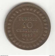 10 Centimes Tunisie 1917 A - TTB+ - Tunisie