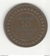 10 Centimes Tunisie 1916 A - TTB+ - Tunisia