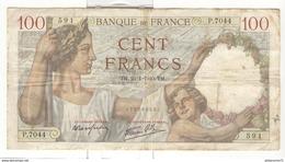 Billet 100 Francs France Sully 25-01-1940 - 1871-1952 Anciens Francs Circulés Au XXème