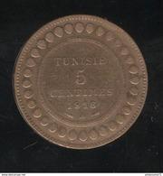5 Centimes Tunisie 1916 A - TTB+ - Tunisia