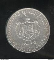 2 Frang Albanie 1937 - 1912-1937 25ème Anniversaire De L'indépendance - Albania