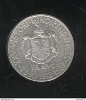 1 Frang Albanie 1937 - 1912-1937 25ème Anniversaire De L'indépendance - Albania